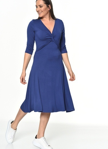 Bonprix Plus Elbise Mavi